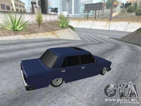 VAZ 2107 v2 para GTA San Andreas vista hacia atrás