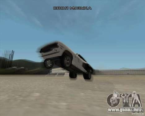 Plymouth Hemi Cuda Rogue para la vista superior GTA San Andreas