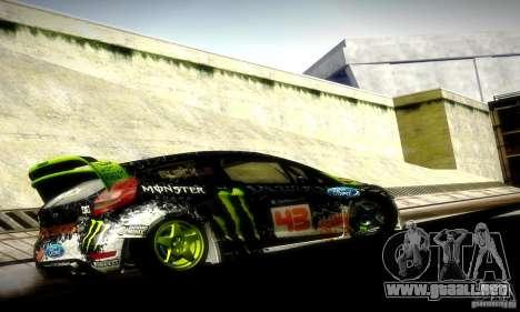 Ford Fiesta Gymkhana 5 para la visión correcta GTA San Andreas
