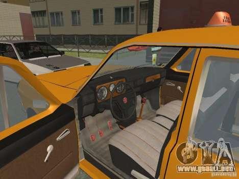 Taxi Volga GAZ 24-10 para visión interna GTA San Andreas
