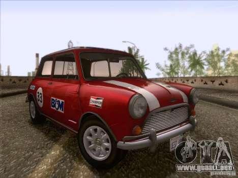 Austin Cooper S 1965 para vista lateral GTA San Andreas