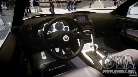 Nissan Skyline GT-R R34 2002 v1 para GTA 4 visión correcta