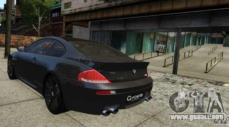 BMW M6 Hurricane RR para GTA 4 left