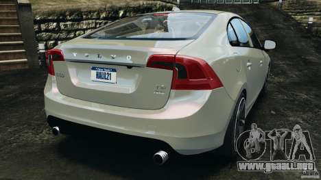 Volvo S60 R Design para GTA 4 Vista posterior izquierda