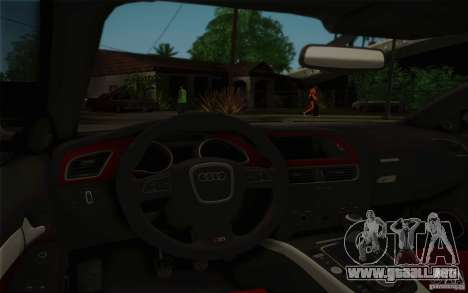 Audi S5 para vista inferior GTA San Andreas