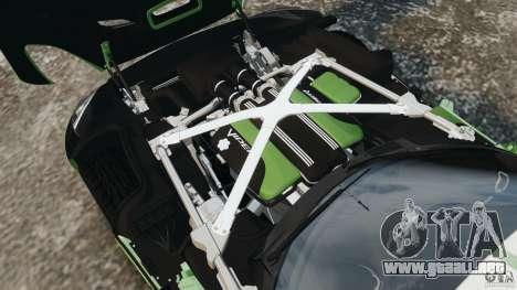 SRT Viper GTS 2013 para GTA 4 vista superior