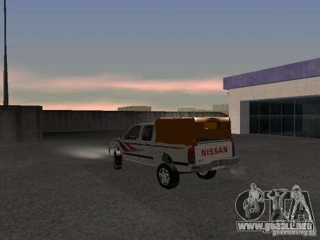 Nissan Pickup para GTA San Andreas vista posterior izquierda