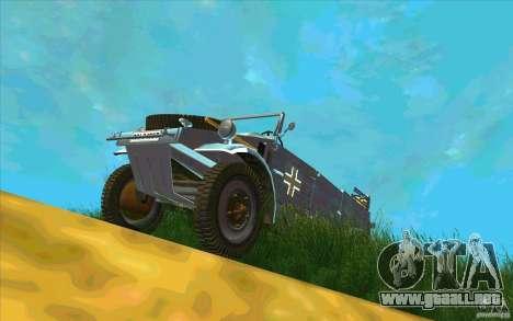 Kuebelwagen v2.0 normal para GTA San Andreas vista hacia atrás