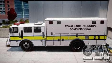 Royal Logistic Corps Bomb Disposal Truck para GTA 4 left