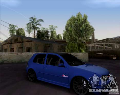 Volkswagen Golf GTi 2003 para GTA San Andreas vista hacia atrás