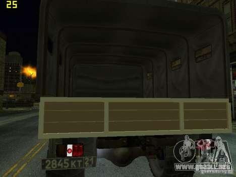 GAZ 66 desfile para la visión correcta GTA San Andreas
