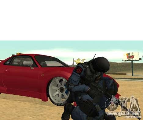 M4 para GTA San Andreas tercera pantalla