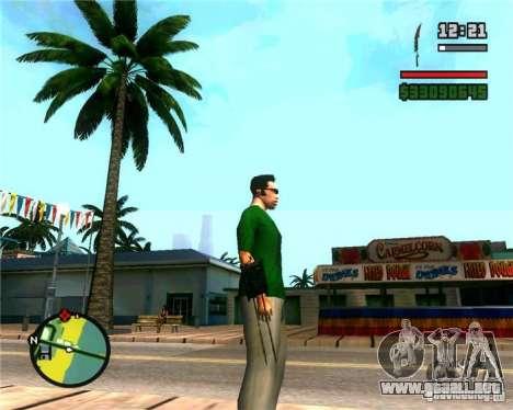 Las garras de un depredador para GTA San Andreas segunda pantalla