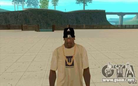 Adidas baseball cap-negro para GTA San Andreas