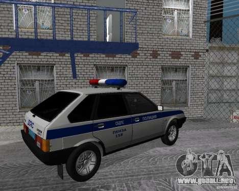VAZ 2109 DPS para GTA San Andreas left