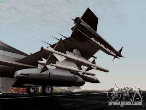 F-16C Warwolf para vista lateral GTA San Andreas