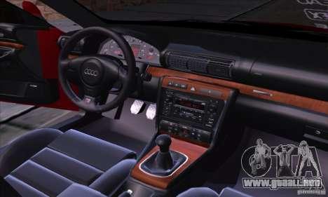 Audi S4 Light Tuning para visión interna GTA San Andreas