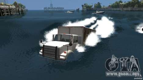 Benson boat para GTA 4 Vista posterior izquierda