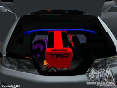 Toyota Mark II 100 1JZ-GTE para GTA San Andreas vista hacia atrás