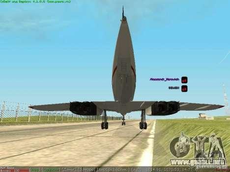 Concorde [FINAL VERSION] para GTA San Andreas vista posterior izquierda