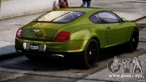 Bentley Continental SS 2010 Suitcase Croco [EPM] para GTA 4 vista lateral