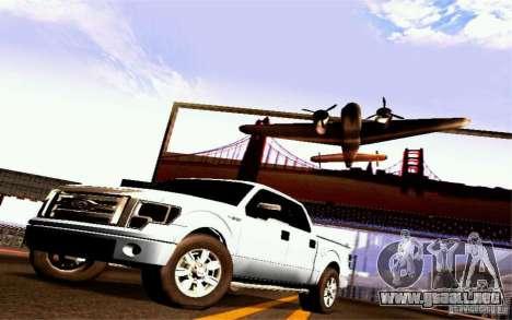 Ford Lobo 2012 para GTA San Andreas vista posterior izquierda