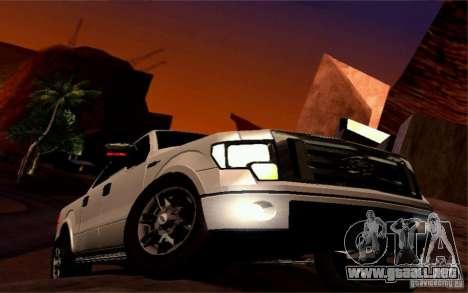Ford Lobo 2012 para vista lateral GTA San Andreas