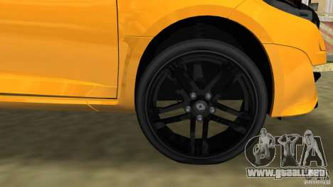Renault Megane 3 Sport para GTA Vice City vista superior