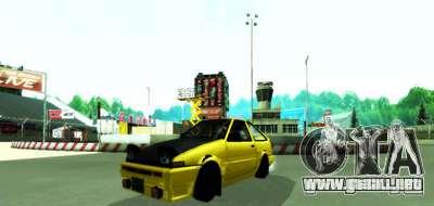 NFS:Shift Drift Tracks para GTA San Andreas segunda pantalla