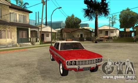 AMC Matador Taxi para GTA San Andreas vista hacia atrás
