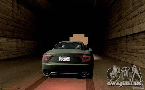 Maserati Gran Turismo 2008 para visión interna GTA San Andreas