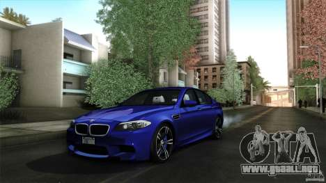 BMW M5 F10 2012 para la vista superior GTA San Andreas