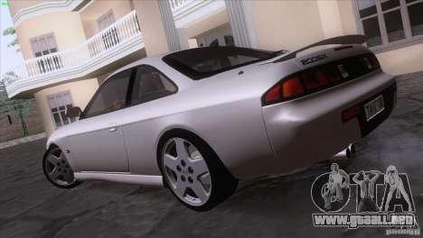 Nissan Silvia S14 Kouki para GTA San Andreas vista hacia atrás