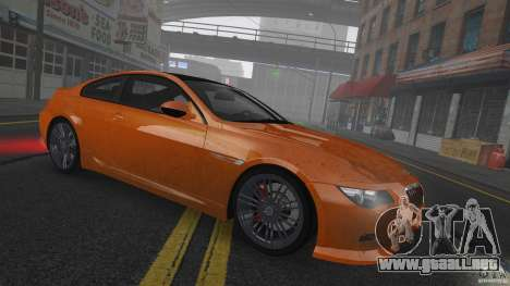 BMW M6 Hurricane RR para GTA 4 vista lateral