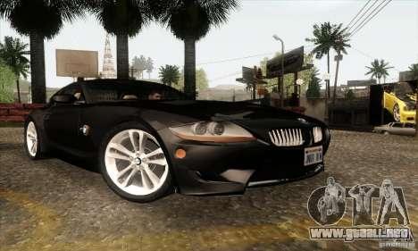 BMW Z4M para GTA San Andreas left