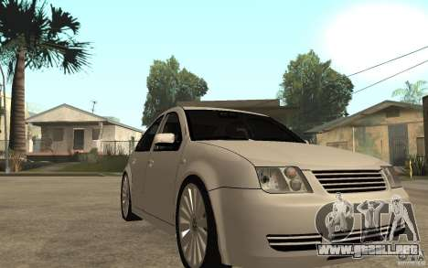 Volkswagen Bora PepeUz Edition para GTA San Andreas vista hacia atrás