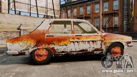 Renault 12 Toros oxidado v2.0 para GTA 4 left