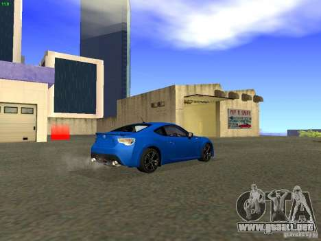 Toyota GT86 Limited para vista lateral GTA San Andreas