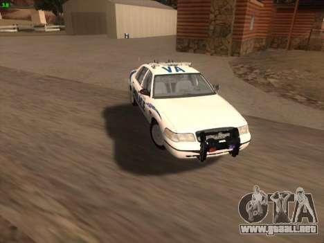 Ford Crown Victoria Vancouver Police para el motor de GTA San Andreas