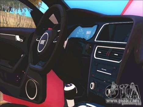 Audi RS4 Avant B8 2013 para visión interna GTA San Andreas