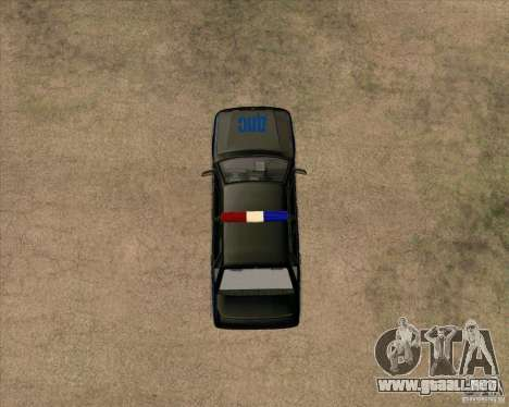 Vaz 2115 DPS para GTA San Andreas vista hacia atrás