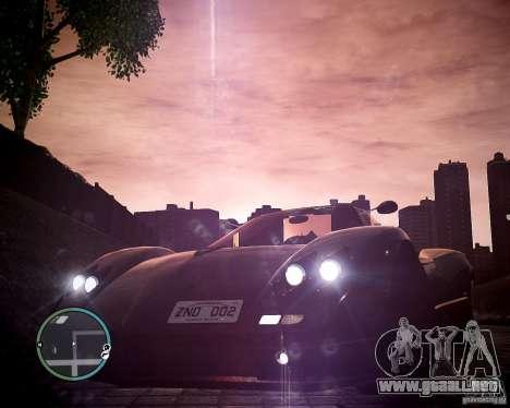 Pagani Zonda C12S Roadster para GTA 4 visión correcta