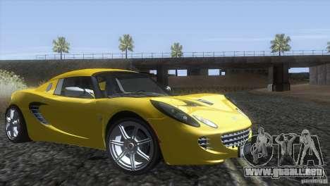 Lotus Elise para la visión correcta GTA San Andreas