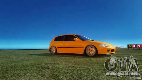 Honda Civic Tuned para GTA 4 left