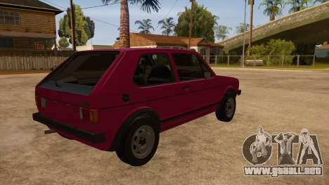 Volkwagen Golf MK1 Stock para visión interna GTA San Andreas