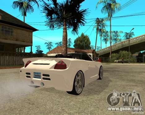 Toyota MRS2 Veilside para GTA San Andreas vista posterior izquierda