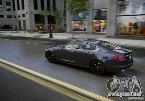 Jaguar XFR 2010 V.2.0 para GTA 4 vista hacia atrás