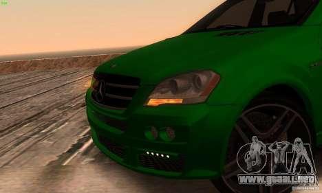 Mercedes-Benz ML63 AMG Brabus para GTA San Andreas vista hacia atrás
