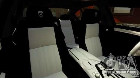 BMW M5 F10 2012 Hamann para GTA 4 vista hacia atrás
