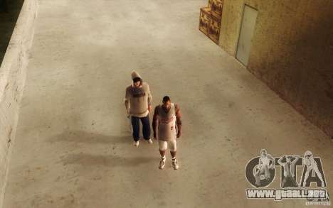Sombras mais fortes em pedestres para GTA San Andreas sexta pantalla